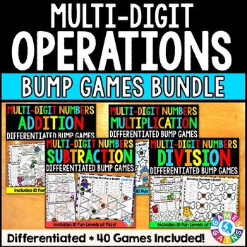 Math Games Bundle: 40 Differentiated Math Operations Games