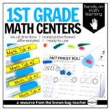 Math Centers {1st Grade} 28 Centers, Labels, and Visual Di