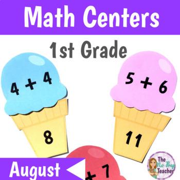 Math Centers 1st Grade August