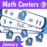 Math Centers 1st Grade January