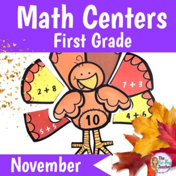 Math Centers 1st Grade November