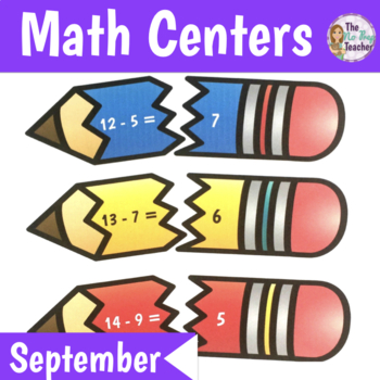 Math Centers 1st Grade September