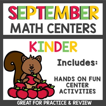 September Math Centers with Dice