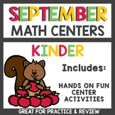 Kindergarten Math Centers for September
