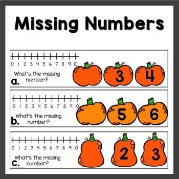 October Math Centers Pumpkin themed