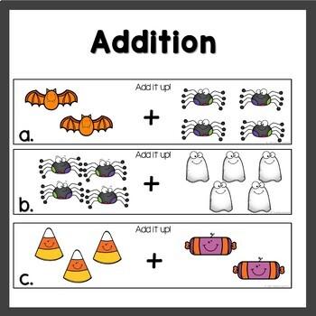 October Math Mats Pumpkin themed
