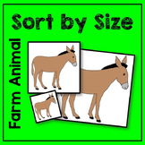 Farm Animal Sort by Size Math Center