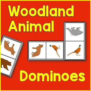 Woodland Animal Math: Dominoes