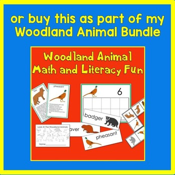 Woodland Animal Ten Frame Math Center