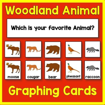 Woodland Animal Graphing Card Math Center