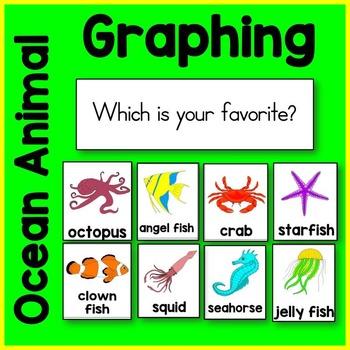 Ocean Animal Graphing Card Math Center