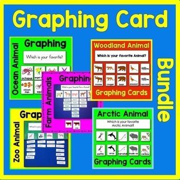 Animal Graphing Math Center BUNDLE (arctic, farm, ocean, w