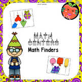 Family Math Game or learning centers 2D shapes Birthday theme