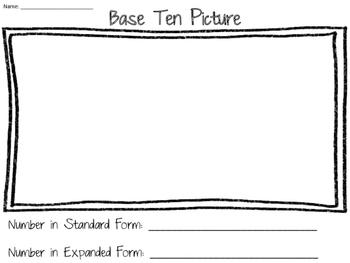 Math Centers - 2nd Grade - Time, Base Ten, Place Value, Ten Frames