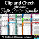 Math Centers: 4th Grade Bundle, All Standards Included