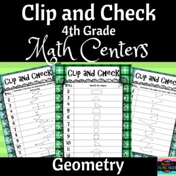 Math Centers: 4th Grade Geometry