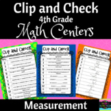 Math Centers: 4th Grade Measurement and Data