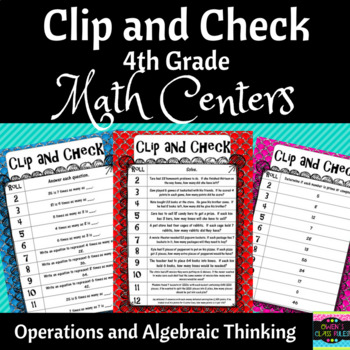Math Centers:  4th Grade Operations and Algebraic Thinking