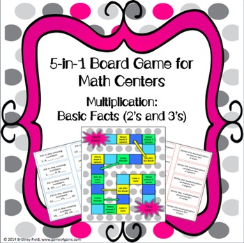 Multiplication Games: 5-in-1 Multiplication Facts Games (2's and 3's Facts)
