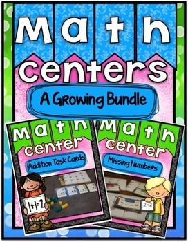 Math Centers ~ A Growing Bundle