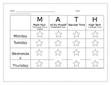 Math Centers Accountability Chart