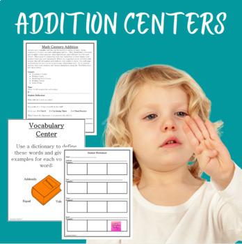 Math Centers Addition - CCSS