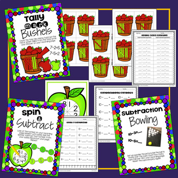 Math Centers - Addition and Subtraction Games
