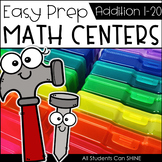 Math Centers {Addition to 20}