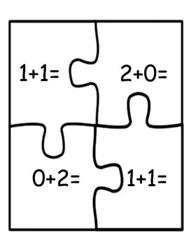 Math Centers:  Addition Puzzles Numbers 1-12