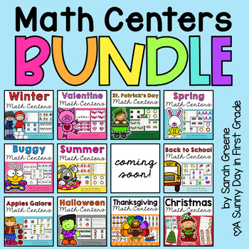 Math Centers For All Year Teaching Resources | Teachers Pay Teachers