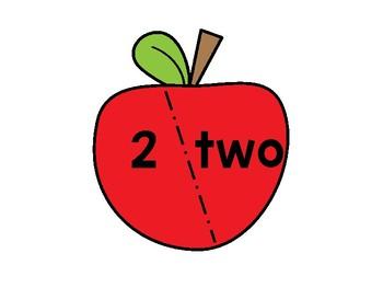 Math Centers: Apple Puzzle Cards