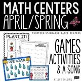 Math Centers - April (Common Core - 1st Grade)