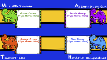 Math Centers  Automatic Station Rotation PowerPoint