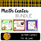 Math Centers BUNDLE - All Year (Fall, Winter, & Spring)