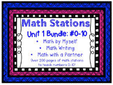 Math Centers BUNDLE - Unit 1: #0-10