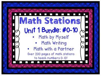 Math Centers BUNDLE - Unit 1: #0-10