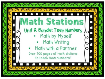 Math Centers BUNDLE - Unit 2: Teen Numbers