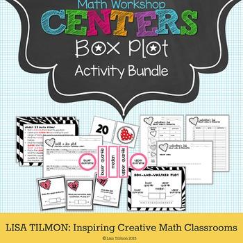 Box Plot Math Centers Activity Bundle