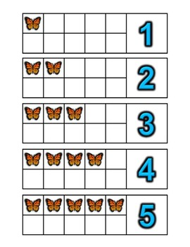Math Centers Bug Themed Counting