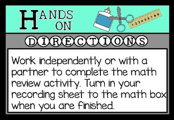 Math Centers Bulletin Board
