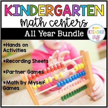 Kindergarten Math Centers Bundle