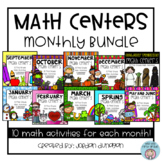 #tptnewyear18 Math Centers Bundle