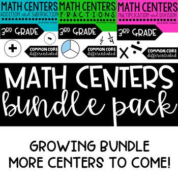 Math Centers Bundle