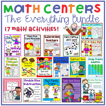 Math Centers Bundle--A Set of Twelve Math Activities