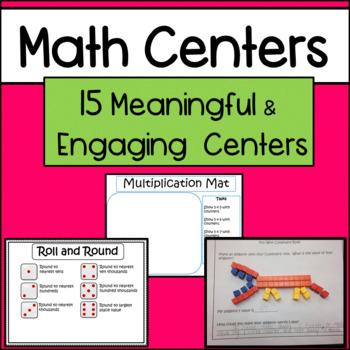 Math Centers Bundle: Grades 3-5