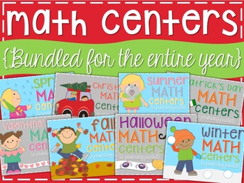 Math Centers {Bundled for the Year}
