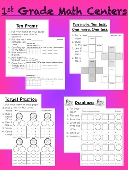 Math Centers {CCSS Aligned}