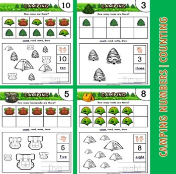 Math Centers Camping Number Activities