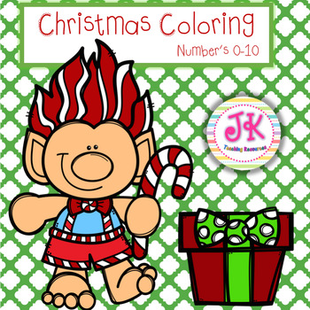 Math Centers Christmas Coloring Sheets - Addition & Subtraction to 10!