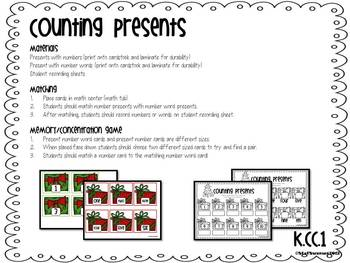 Math Centers {Christmas} Common Core